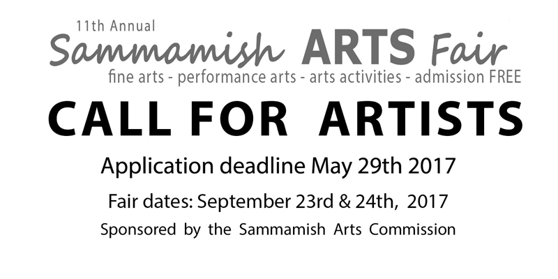 For more information, or to apply, visit the Sammamish Arts Fair website